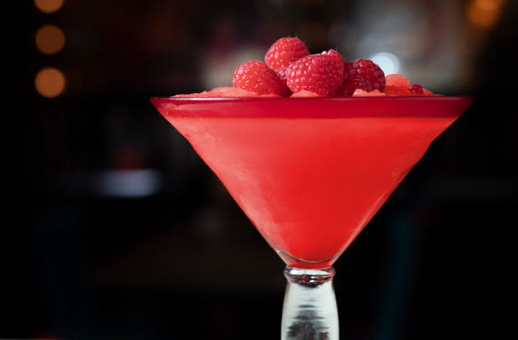 Raspberry-flavoured margarita