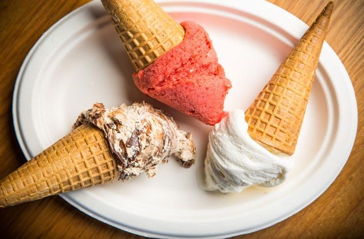 Rivareno gelato cones.
