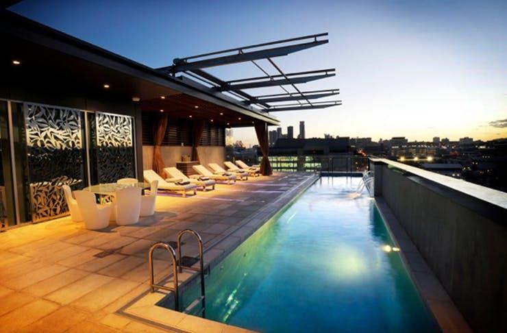 Emporium Hotel Champagne rooftop bar