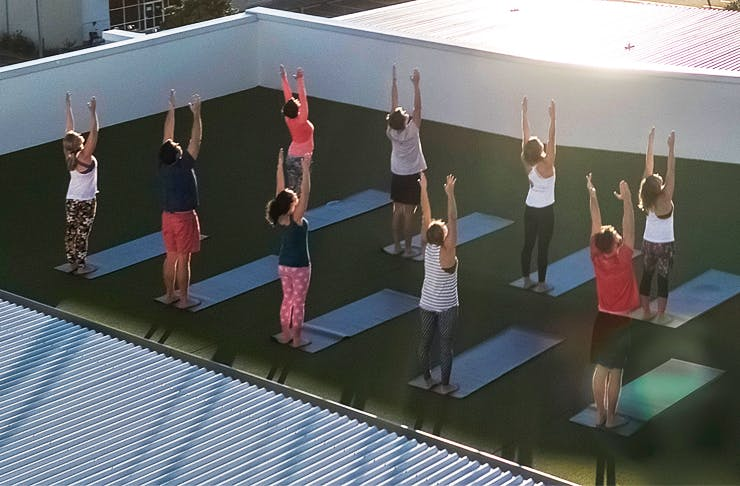 rooftop pilates