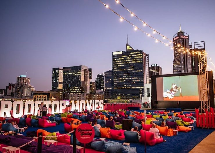 Pass The Pizza, Perth's Fave Rooftop Movies Reopens This Weekend
