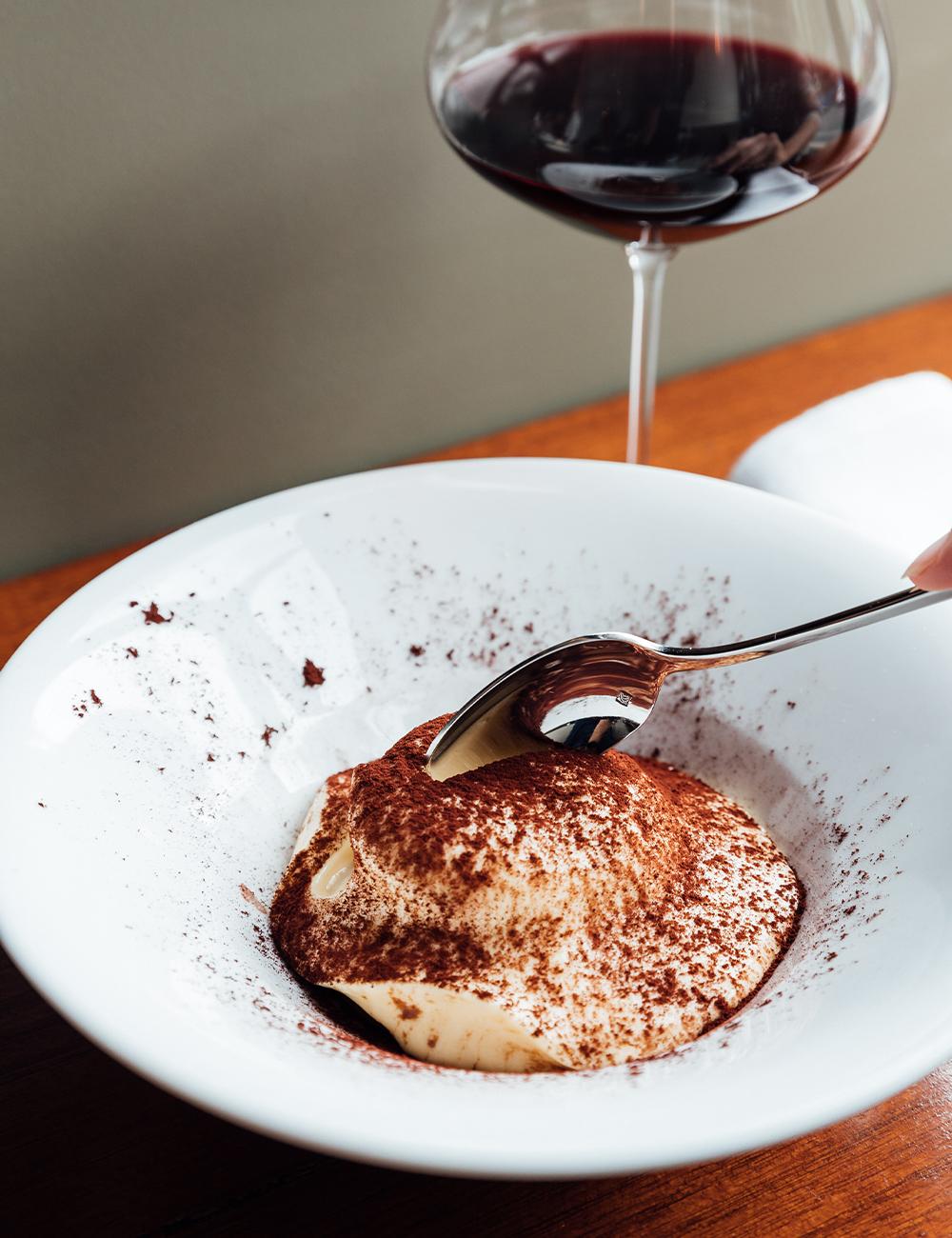 a bowl of tiramisu
