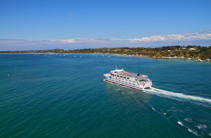 The searoad ferry sailing from Queenscliff.