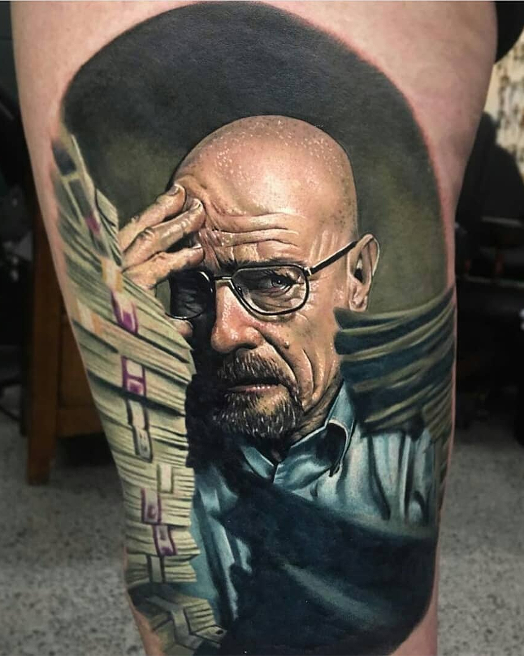 An incredibly realistic portrait of Heisenberg.