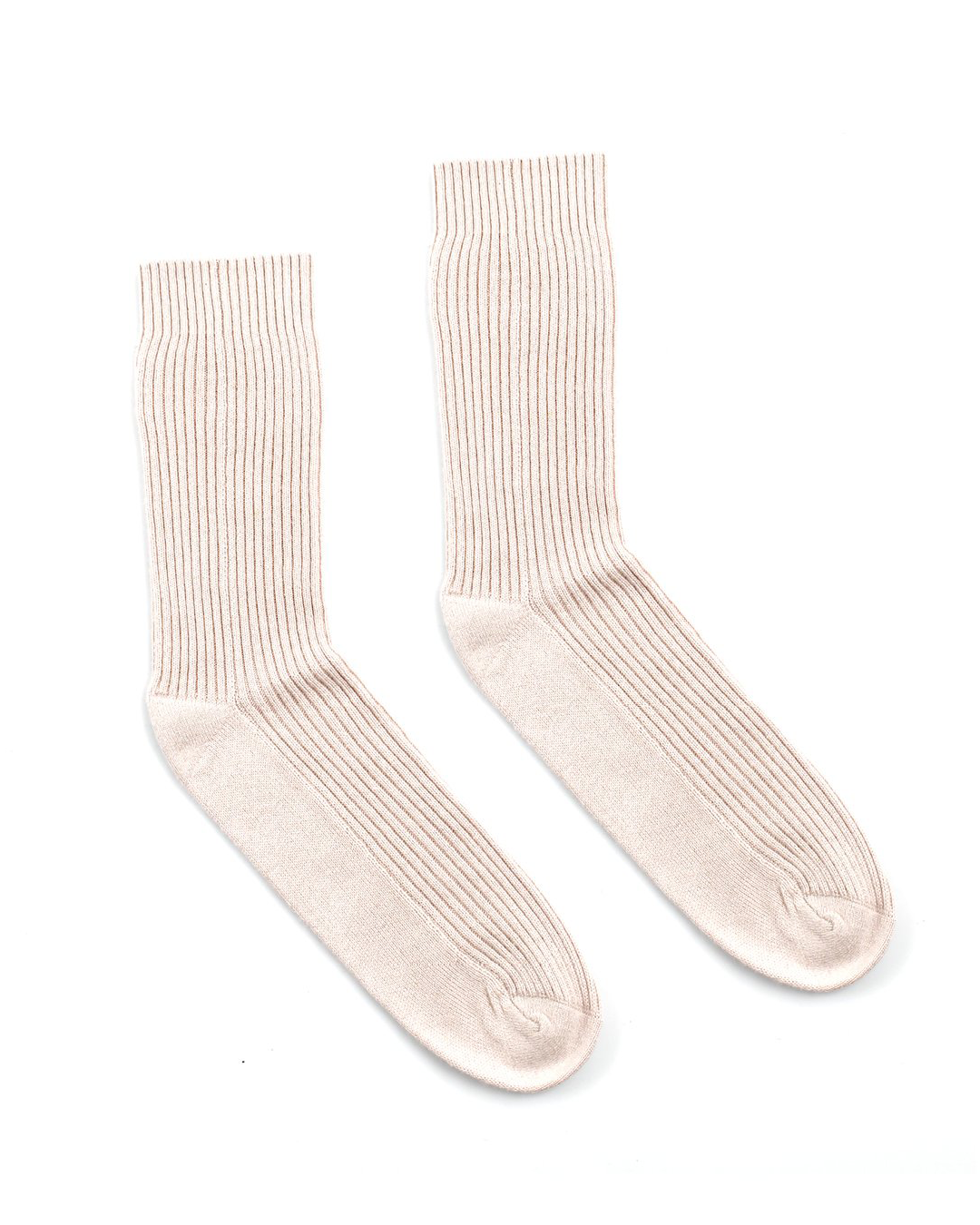 A light blush pair of pink silk socks