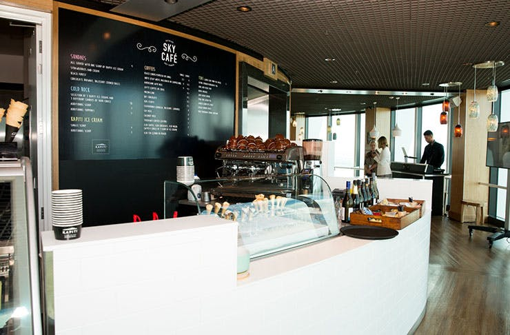 sky cit auckland, sky cafe, new opening, kapiti ice cream, cheeses