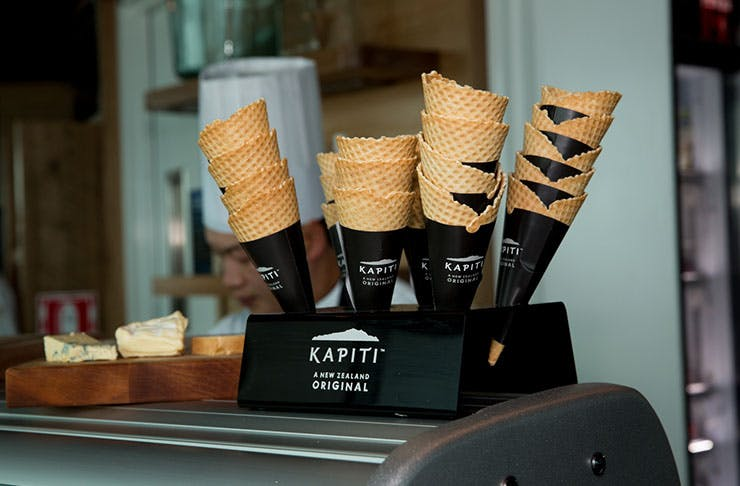 sky city auckland, sky cafe, new opening, kapiti ice cream, cheeses