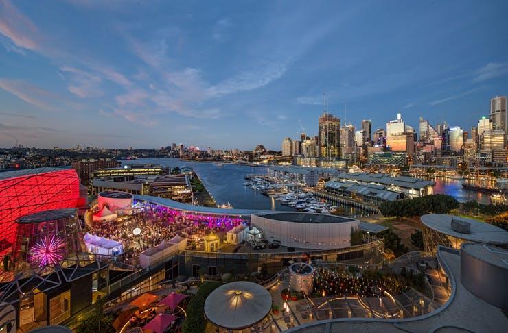 sky terrace rooftop bar in Sydney