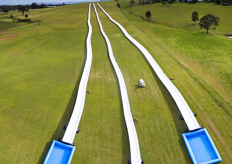The World's Largest Slip N' Slide Is Back In Brisbane This Weekend