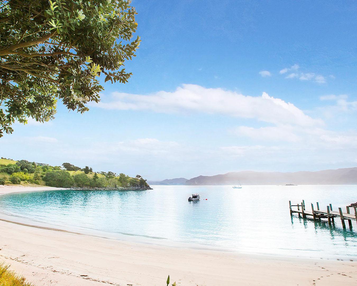 The gorgeous beach at Slipper Island