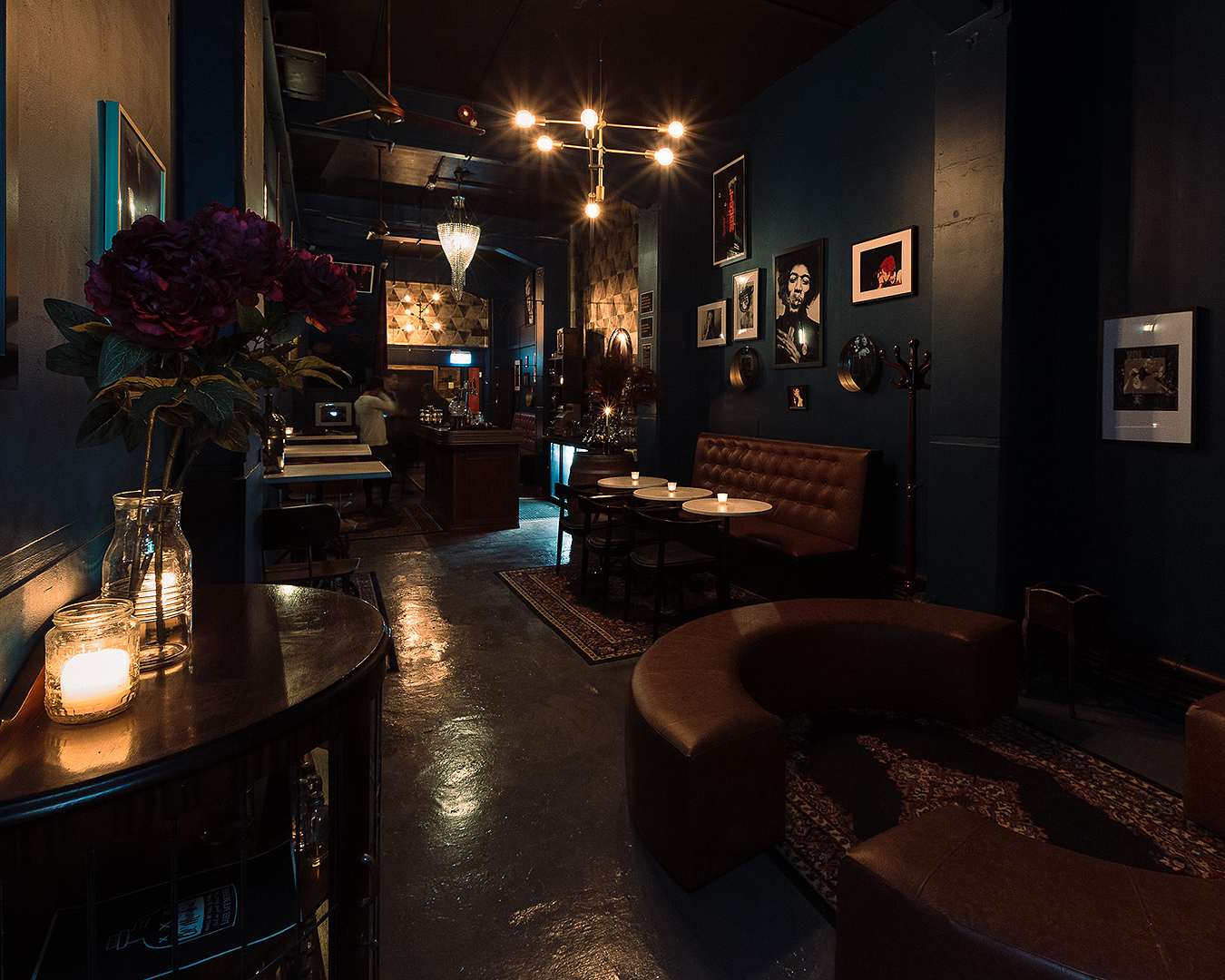 The lush interior at speakeasy bar Sly on K Road.