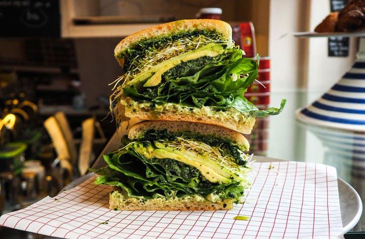The Al Green vegan sandwich at Small's Deli