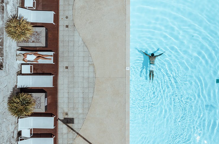aerial view of the pool at Smith's Beach Resort