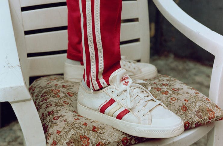 The adidas x Wales Bonner Nizza sneakers.