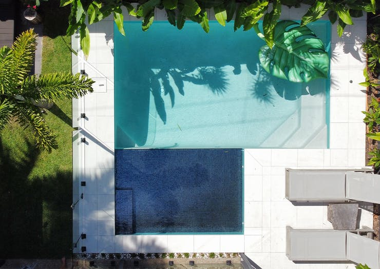 a pool seen from above