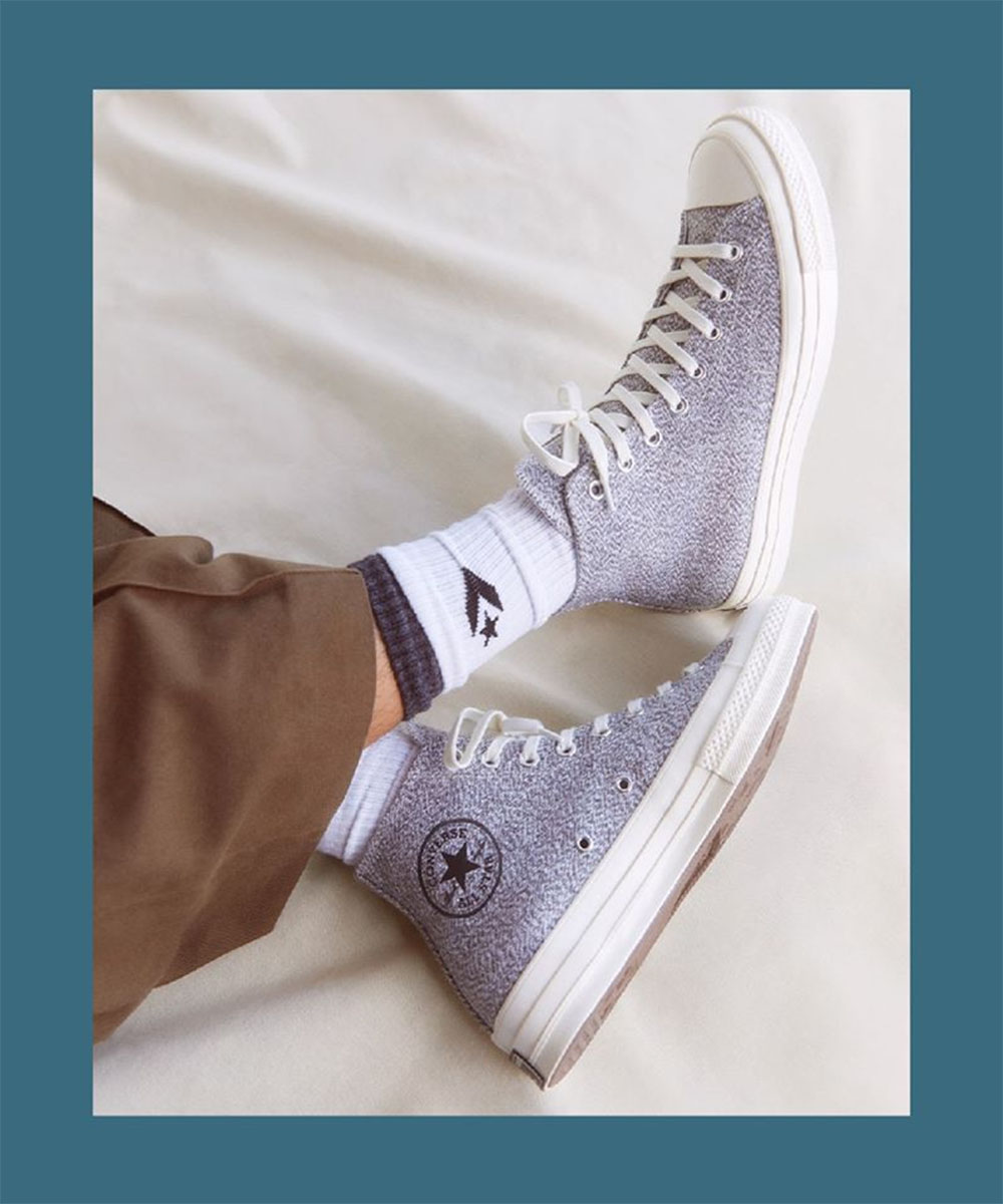 A pair of converse sneakers on sale at SOLECT, a new shoe shop at Commercial Bay.