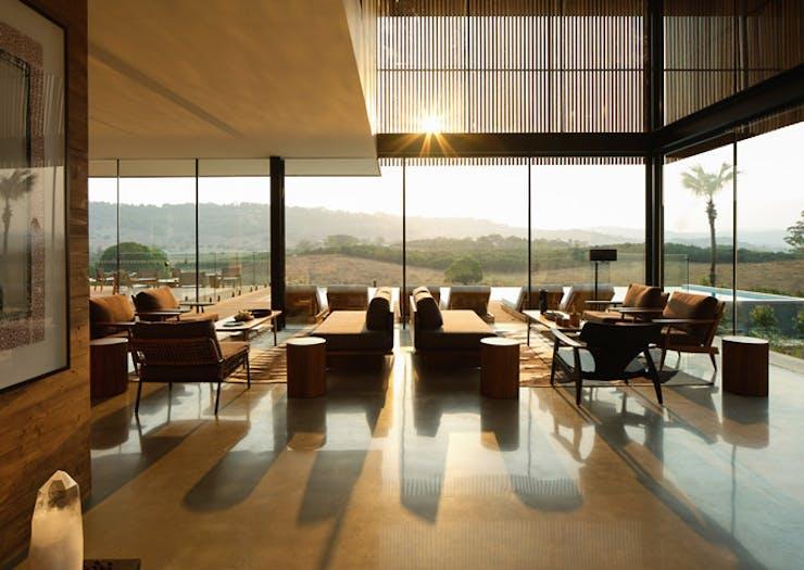 the communal lounge at Soma Byron Bay