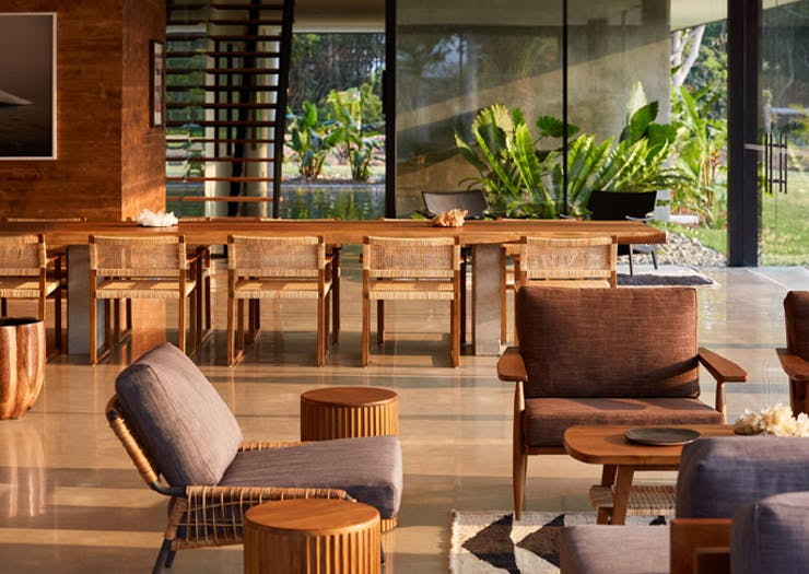 the dining area at Soma Byron Bay