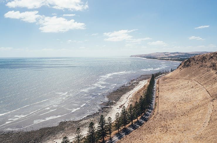 The stunning South Australian coastline on a sunny afternoon.