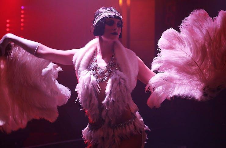 Girl dancing at speakeasy