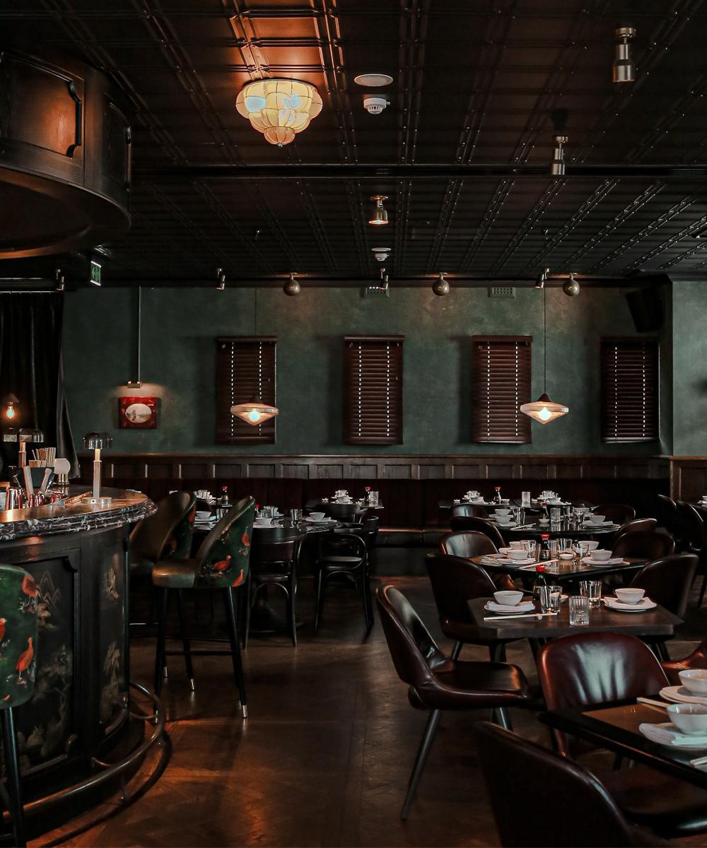 dim interiors of a stunning Chinese restaurant