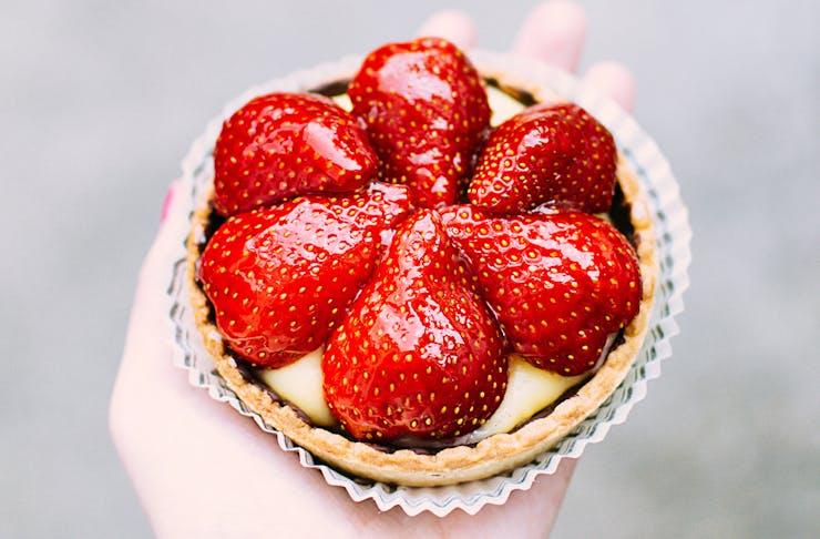 a strawberry tart
