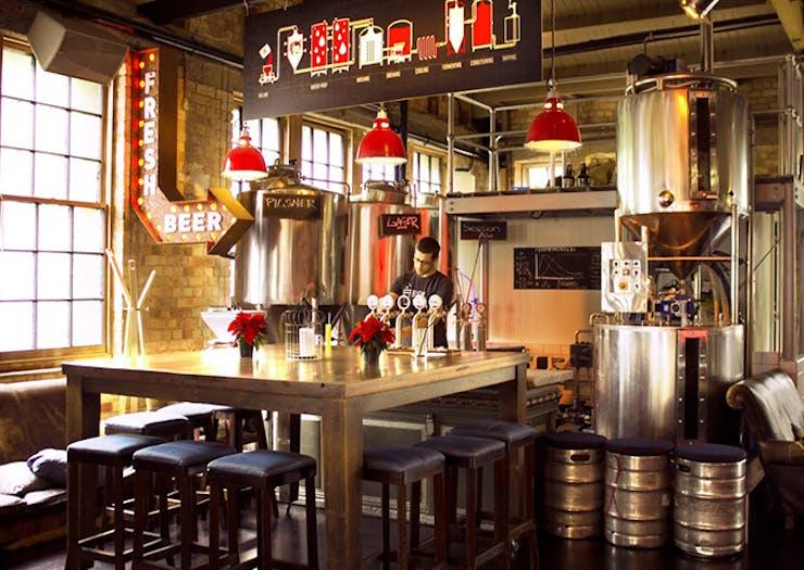 Sweat Shop Brew Kitchen, Freemans Bay, Auckland, gastropub, bevvies, weekly specials, live music, late night