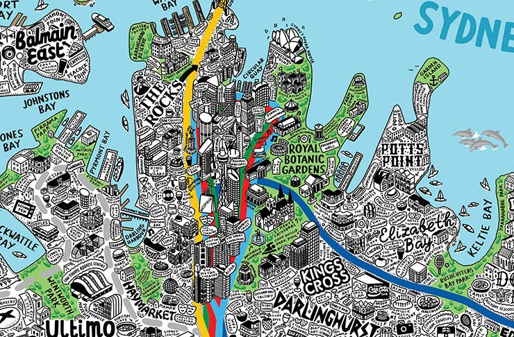 Meet The Artist Drawing Intricate Maps Of Melbourne And Sydney ... Doodle Maps on