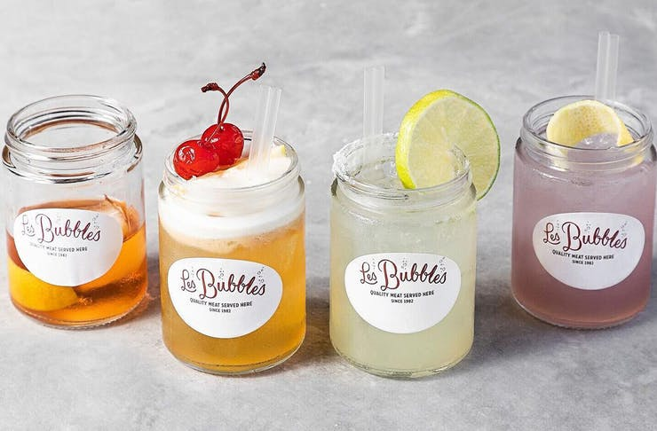 cocktails in mason jars