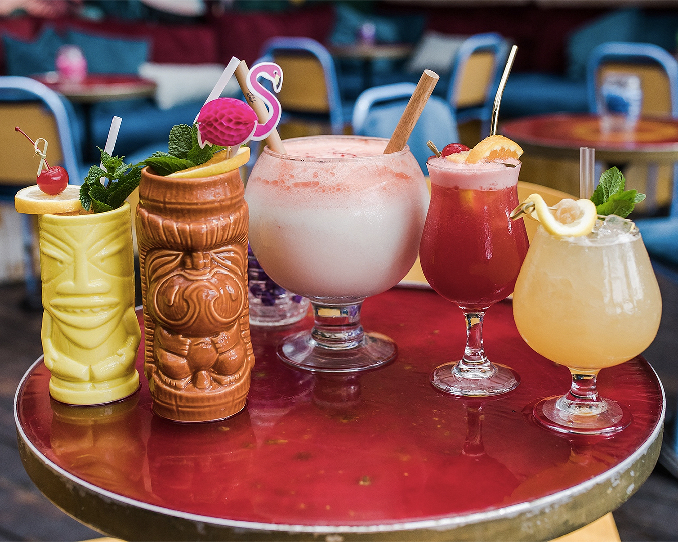 A wonderful looking round of drinks at Talulah.