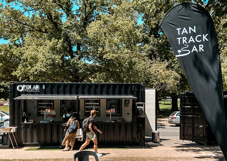 Cool Out, A Pop-Up Container Bar Has Opened Along The Tan