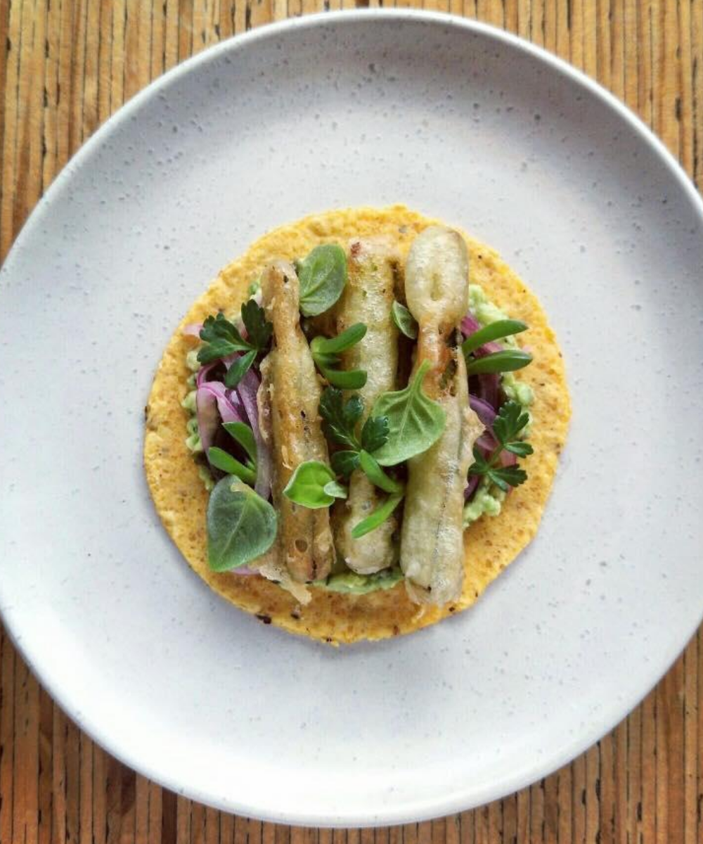 Piquant plant-based taco from Hillside Kitchen and Cellar