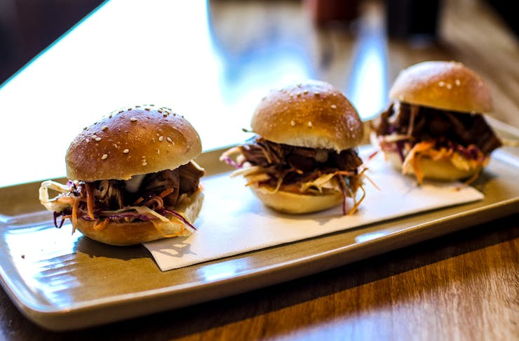 The Gem Bar and Dining Room burgers