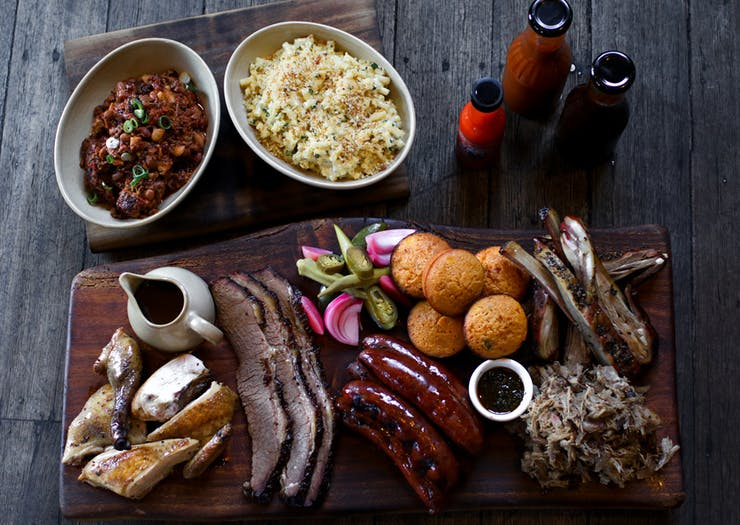 The Gem Bar and Dining Room barbecue food