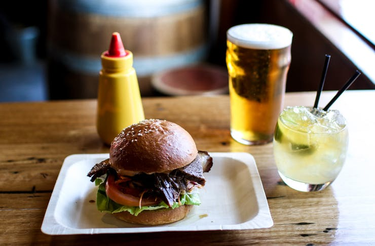 The Gem Bar and Dining Room burger