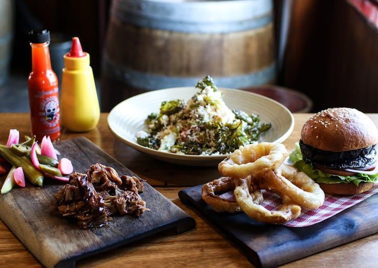 The Gem Bar and Dining Room vegan food