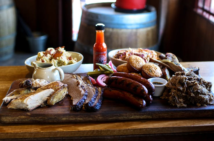 The Gem Bar and Dining Room bbq platter