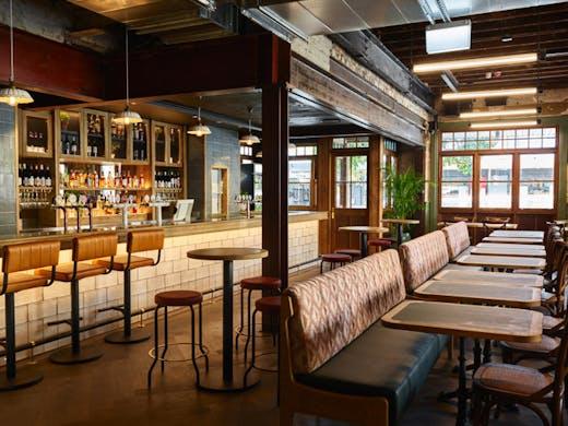 The interior of The Redfern pub