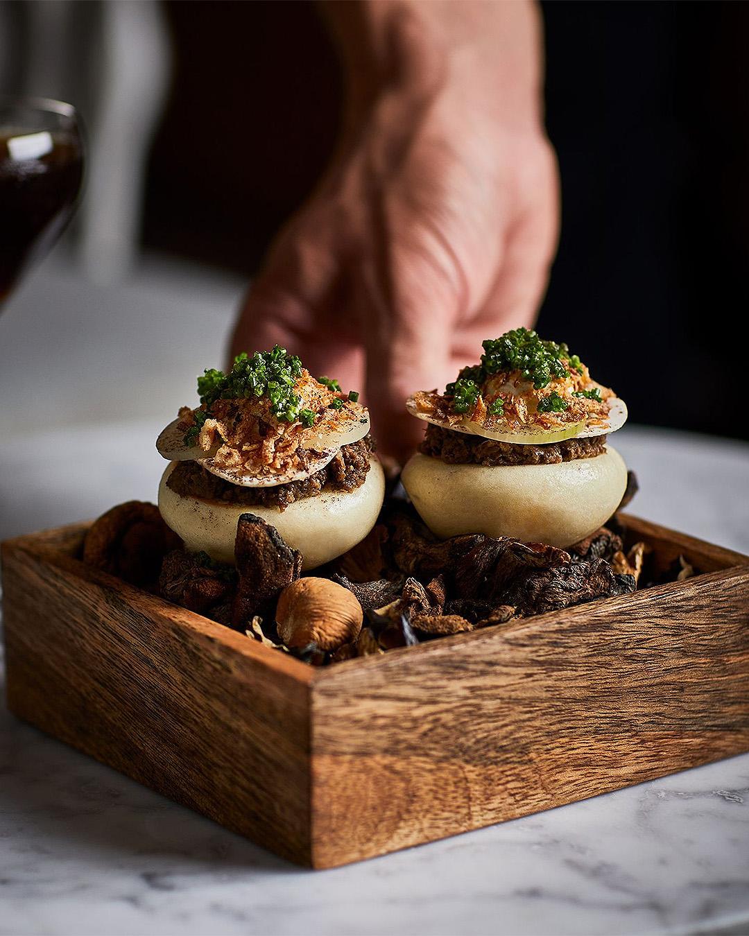 A mushroom dish at the Grove.