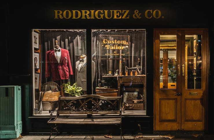 the front of the tailors