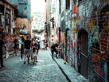 Take A Look At The Damage Caused To Hosier Lane's Murals Over The Weekend