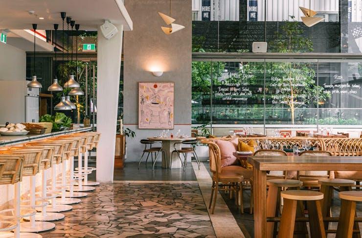 The dining room at Glorietta restaurant in Sydney.