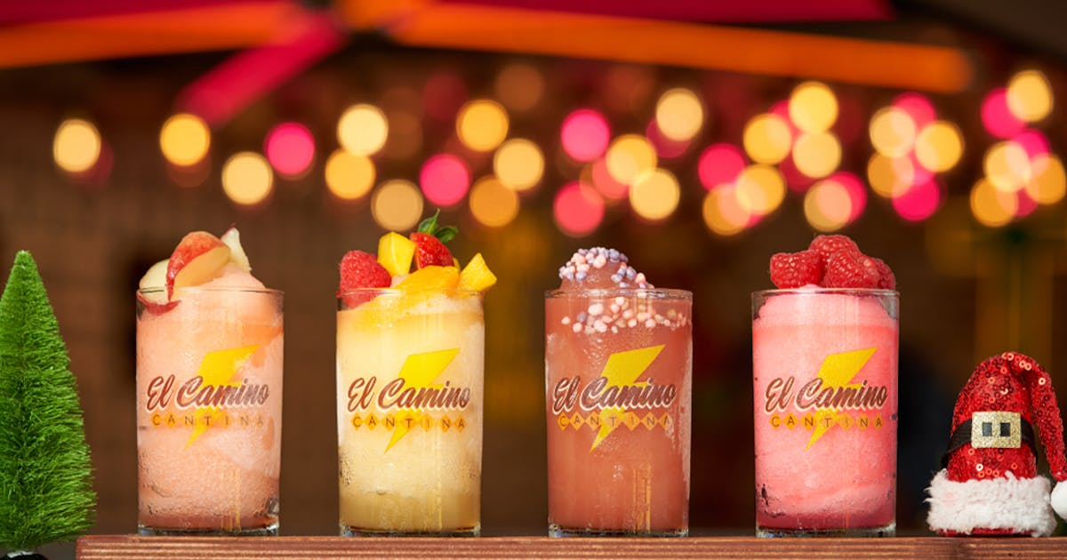 Get Into The Festive Spirit With A Tasting Paddle Of Christmas-Inspired Frozen Margarita Flavours