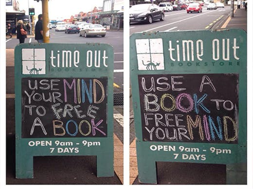 One of Auckland's best bookstores, Time Out in Mt Eden offers an eclectic range of books for both adults and kids.