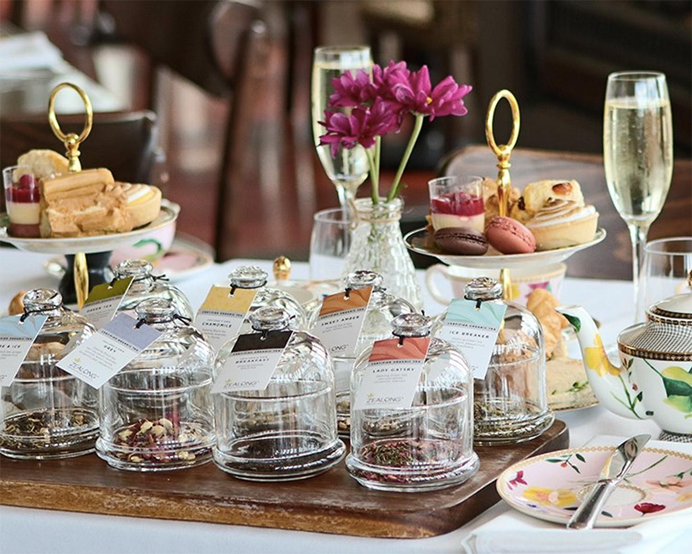 A lovely high tea spread.