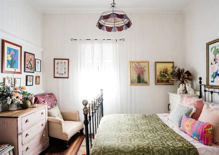 bedroom inside norwood cottage