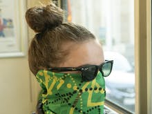 Cover Your Face Like A True Melburnian With Tram Seat Print Face Masks
