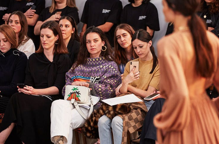 The front row at fashion week.