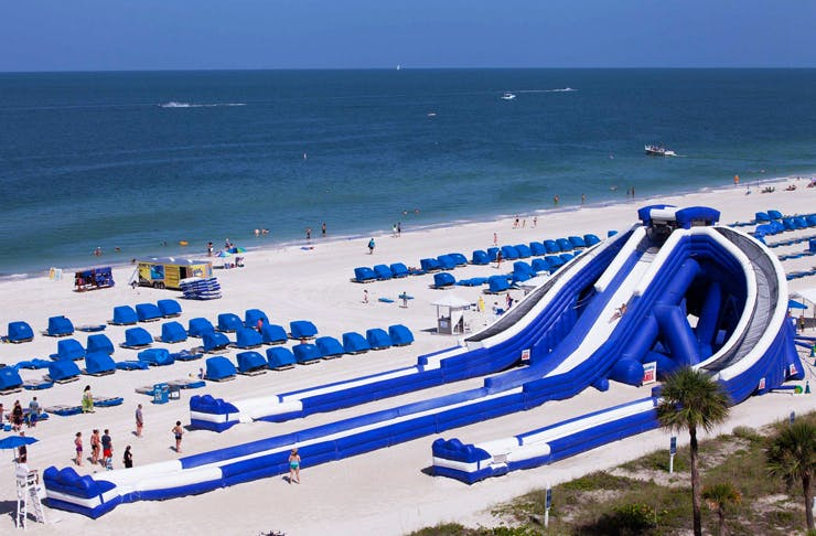 The World's Largest Inflatable Waterslide Has Just Popped Up!