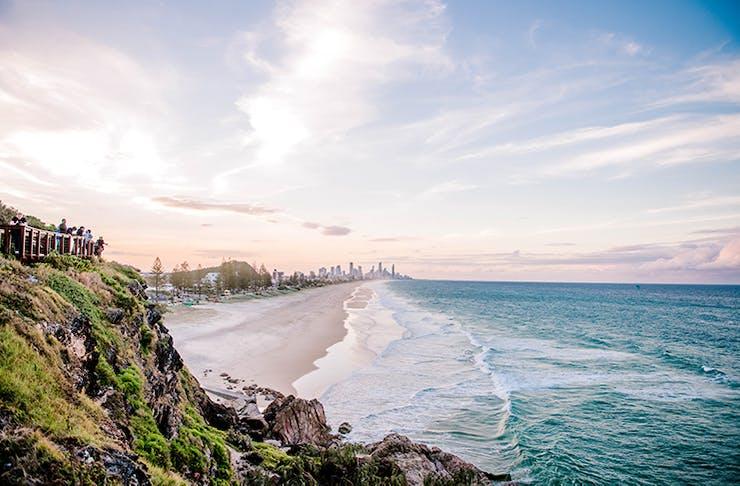 Landscape shot of the coast